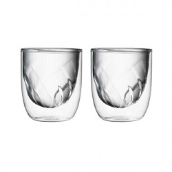 Set de 2 verres ELEMENTS double-paroi - 210ml - Feu