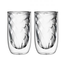 Set de 2 verres ELEMENTS double-paroi - 350ml - Feu