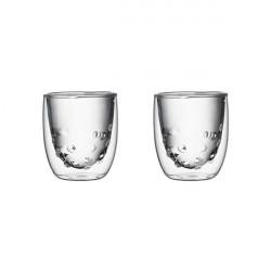 Set de 2 verres ELEMENTS double-paroi - 75ml - Eau