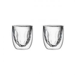 Set de 2 verres ELEMENTS double-paroi - 75 ml - Métal