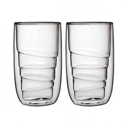 Set de 2 verres ELEMENTS double-paroi - 350ml - Bois