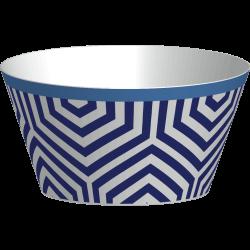 RIVIERA - Set de 4 bols - Bleu/blanc