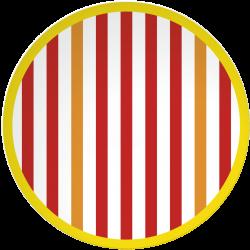 RIVIERA - Set de 4 assiettes 20,5 cm - rouge/blanc