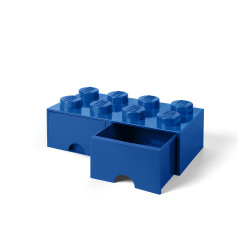 Brique de rangement 8 à tiroirs - bleu