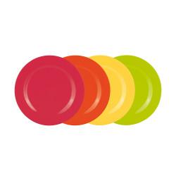 BBQ - Sets de 4 assiettes - hot pop