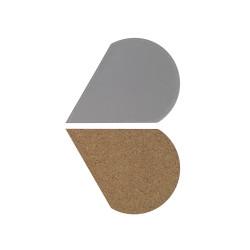 Centre de table/dessous de plat réversible - pétale