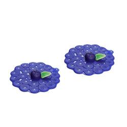 FRUIT ROUGE - Set de 2 couvre-verres myrtille
