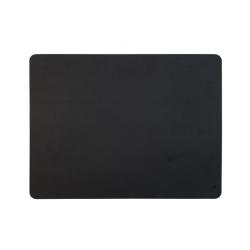 Set de table cuir recyclé rectangulaire - noir