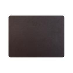 Set de table cuir recyclé rectangulaire - marron foncé