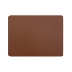 Set de table cuir recyclé rectangulaire - marron clair