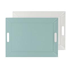 Plateau bicolore réversible M - bleu dragée/blanc
