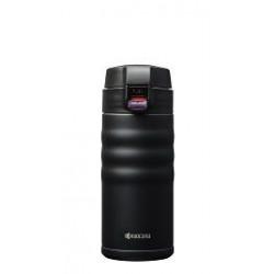CERAMUG - Mug isotherme bouchon flip 350 ml - noir