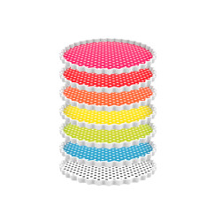 PACK MULTICO - Plats/assiettes rondes en 7 couleurs