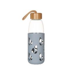 Bouteille en verre et silicone nomade 55 cl - gris