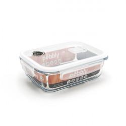 Plat/boîte rectangulaire en verre 1 L