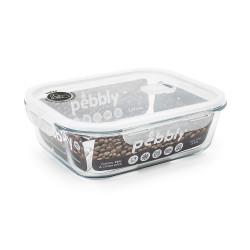 Plat/boîte rectangulaire en verre 2,25 L