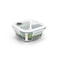 Plat/boîte carrée en verre 800 ml