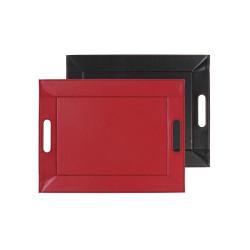 Plateau bicolore réversible S - rouge/noir