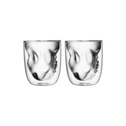 Set de 2 verres ELEMENTS double-paroi - 210ml - Terre