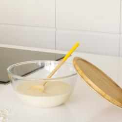 Bol à mixer rond -  avec couvercle en bambou - 2,6 L