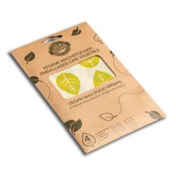 Set de 4 feuilles emballage alimentaire Vegan